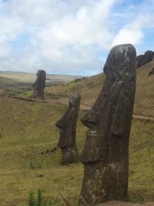 la carrière des Moai